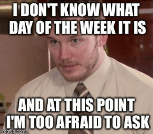 what day is it too afraid to ask meme