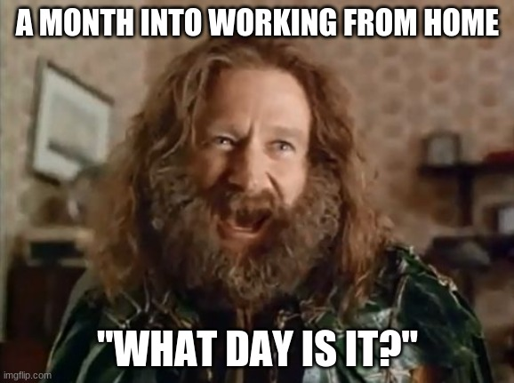 what day is it working from home meme