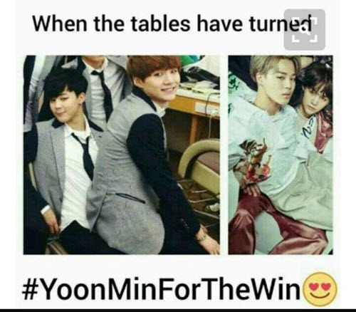 yoonmin tables have turned memes